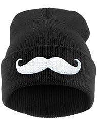 Demarkt Mode Damen MUSTACHE Design Muster Wintermütze Strickmütze Winter Mütze Hüte Beanie