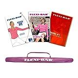 Ergobasis Flexi-Bar DVD Vorteil Set inkl. DVD Bauch Beine Po, DVD Rückenfit, DVD Toning und Tasche Violett