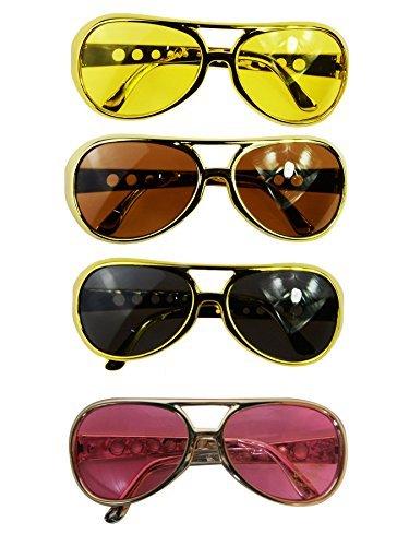 Gold Kostüm Elvis - CREATIVE Kostüm Brille Elvis Gold mit passenden Gläsern