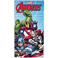 Marvel Avengers Toalla de Playa para niños, Micro poliéster, ...