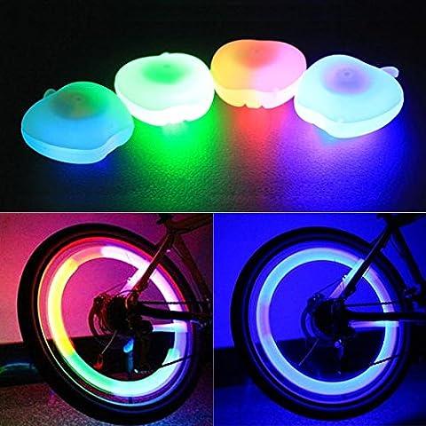 MaMaison007 Bicicleta bici decoración rueda luz Apple forma alambre lámpara habló lámpara