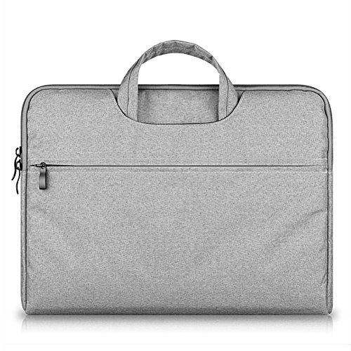 GADIEMENSS Water-resistant Laptop Sleeve Case Bag Portable Computer handbag For Apple Macbook Air Pro and other Notebook 13.3 inches Gray