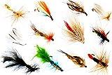 Fliegenfischen Angelfliegen Sortiment in 8 verschiedenen Variationen und Muster, Kunstköder:Streamer