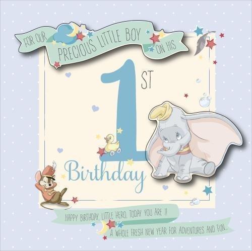 Preferenza Biglietto di auguri per il primo compleanno, per bambino, motivo  UN88