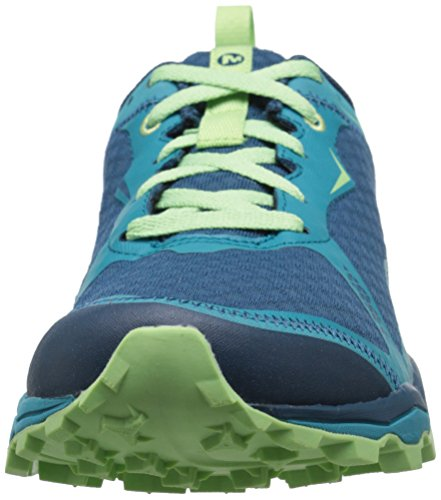 Merrell All Out Crush Light, Chaussures de Trail Femme, Rose Multicolore (Bright Green)
