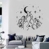 guijiumai Design Geometrie Vinyl Wandtattoo Berge Crescent Stars Wohnkultur Kunst Aufkleber Sofa...