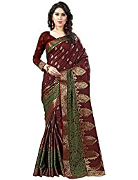 The Fashion Outlets Women's Cotton Silk Saree With Blouse Piece (Sasti Cotton Silk Designer Sarees 159, Maroon...