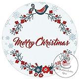 Tortenaufleger Tortenbild Weihnachten Wunschtext 20 cm Ø TA1112