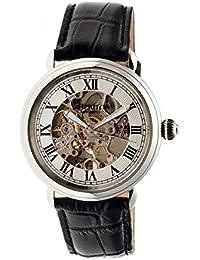 heritor automatic HR1701 - Reloj para hombres, correa de cuero color negro
