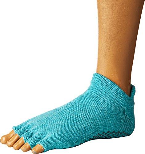 ToeSox Half Toe Low Rise Yoga-Socken, Unisex Erwachsene M Blau (Aqua) Sox Im Team Design