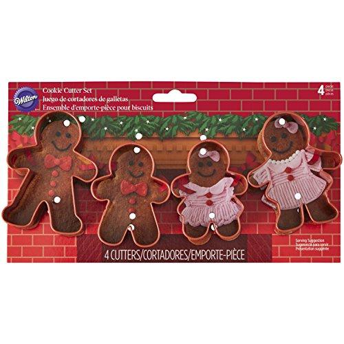 Wilton Gingerbread Family Cookie Cutter Set, braun, 4Stück Shaped Cookie Cutter Set