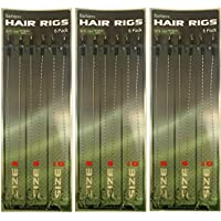 18 Braid Carp Fishing Hair Rigs Size 6,8,10 6 Of Each Sizes