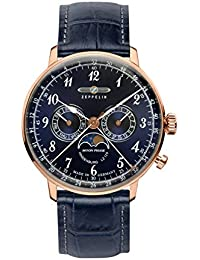 Zeppelin Unisex-Armbanduhr Chronograph Quarz Leder 7038-3