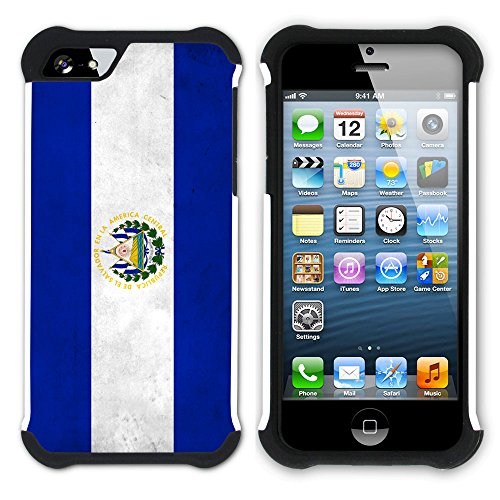 Graphic4You Vintage Uralt Flagge Von Venezuela Venezolanisch Design Hart + Weiche Kratzfeste Hülle Case Schale Tasche Schutzhülle für Apple iPhone SE / 5 / 5S El Salvador Salvadorianisch