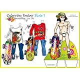 Colección Fantasy Skate. Recortables. Recortar y vestir personajes: para payasos, deportistas, vestidos de noche, de fiesta, skate, love, etc.