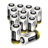 12 St. CR123A CR17345 Batterien, Keenstone 3V 1400 mAh Lithium Einwegbatterie für Taschenlampe, Kamera, Intelligente Instrumentierung, Mikrofone usw. [Nicht wiederaufladbar, Nicht für Arlo]