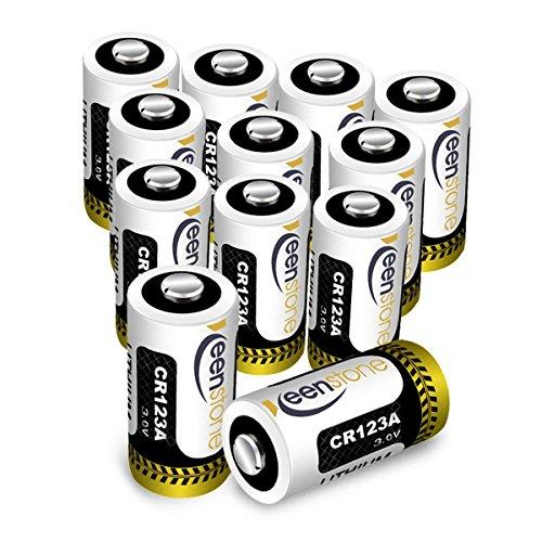 Batteria CR123A, Keenstone 12pcs 1600mAh CR123A Batteria al Litio Non Ricaricabili per Flashlight, Fotocamera Digitale, Videocamera, Giocattoli, Macchina Fotografica, Microfoni, ecc.