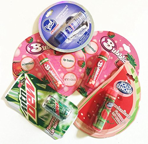 5x-lip-balm-mtn-dew-bubblicious-jolly-rancher-york-lippenpflegestifte-usa