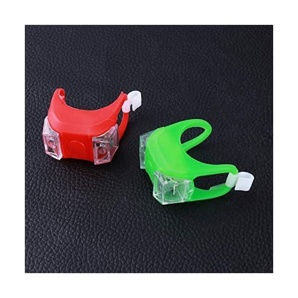 VORCOOL 2 x LED Marine Navigation Lights Kayak Boat Bow or Stern Safety Lights Emergency Lights (Red + Green)
