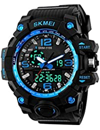 Addic Analogue-Digital Multifunctional Outdoor Sports Dual Time Blue Dial Men'S Watch - Skmeimw37