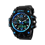 #8: Skmei Analog-Digital Black Dial Men's Watch-1155-Blue
