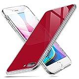 ESR Coque iPhone 8 Plus/7 Plus Silicone Rouge, Coque Transparente avec Revêtement...