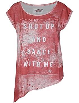 trueprodigy Casual Mujer marca Camiseta estampado ropa retro vintage rock vestir moda cuello redondo manga corta...