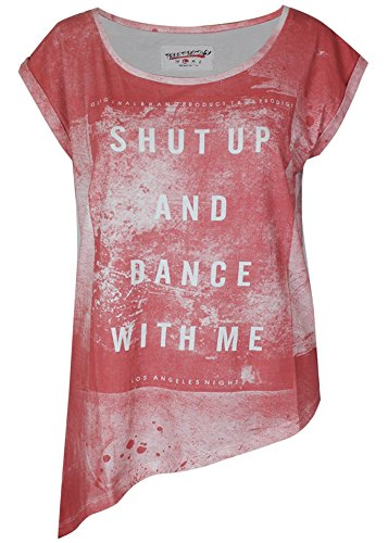 True Prodigy Trueprodigy Casuale Donna Magliette Motivo Stampa, Abbigliamento Urban Moda Girocollo (Manica Corta & Slim Fit Classic), Top Blusa Moda Vestiti Colore: Rosso 1063159-1550 Red