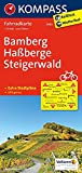 Bamberg - Haßberge - Steigerwald: Fahrradkarte - GPS-genau - 1:70000 (KOMPASS-Fahrradkarten Deutschland, Band 3082) -