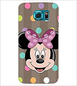 PrintDhaba Minnie Mouse D-1445 Back Case Cover for SAMSUNG GALAXY S6 (Multi-Coloured)