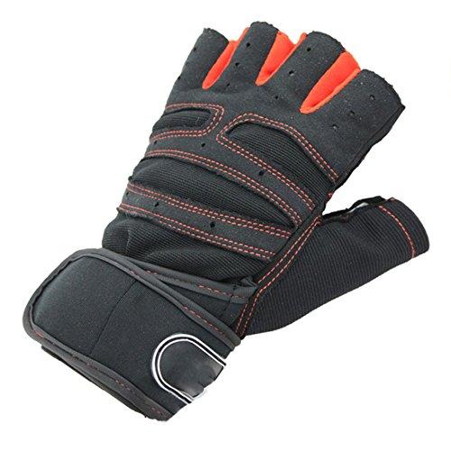 Gym Bodybuilding Trainings Sport Fitness Gewichtheber Handschuhe rot XL