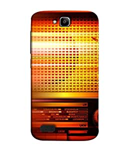 FUSON Designer Back Case Cover for Huawei Honor Holly (Blur Music Background With Retro Radio Antique )