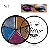 SMILEQ 5 Color Glitter Eyeshadow Cream Makeup Waterproof Brighten Eye Shadow Cosmetic (D)