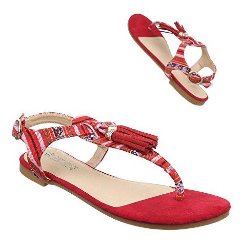 Ital-Design , Escarpins peep-toe femme Rouge