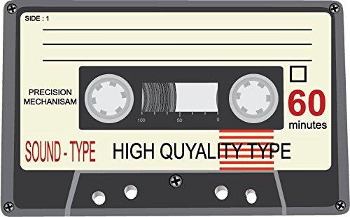 Audio Cassette Side 1 High Quality Alta Calidad De Coche De Parachoques Etiqueta Engomada 12 x 10 cm
