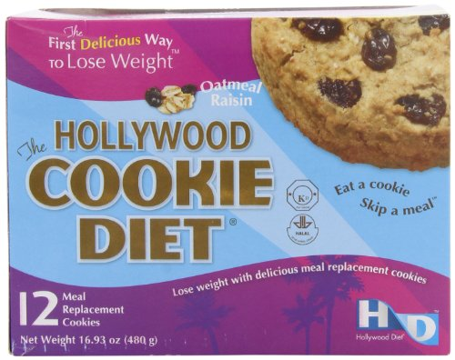Hollywood Diet Diet Meal Replacement Cookie Oatmeal (12 Cookies)