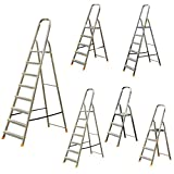 Leiter Aluleiter Stehleiter Haushaltsleiter Klappleiter Aluminium 3 bis 8 Stufen (verschiedene Größen) (6 Stufen)