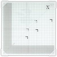 Xcut - Tagliere in vetro temperato, 33 x 33 cm