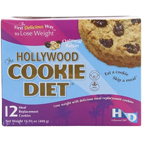 Hollywood Cookie Diet Meal Replacement Cookies, Oatmeal