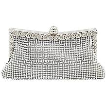 Sasairy 21x10cm Donna Pochette Eleganti da Cerimonia Piccolo Sera Borsa  Glitter della Matrimonio con Strass Regalo 6c6ef282f8f