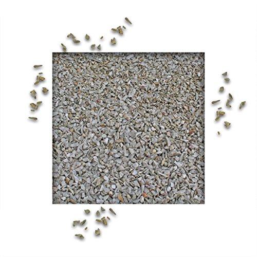 fugensplitt anthrazit 25 kg Splitt Quarzit Grau Ziersplitt Deko Dekoration Splitt Zierkies Fugensplitt Körnung 2/5 mm