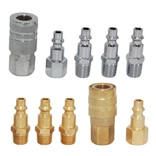 Preisvergleich Produktbild Gazechimp 10er-Set 1/4 '' Metall Druckluft Kupplung Schnellkupplung Stecker Schlauchkupplung 1/4 '' Schlauch