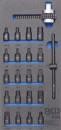 Bgs 1/3 Carter Chariot Tapis spécial Inserts et ölfilterkettenschlüssel, 22 pièces, 4094