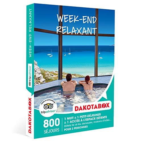 DAKOTABOX - Week-end relaxant - Coffret Cadeau Séjour Bien-être - 1 nuit avec...