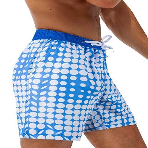 Kaister Badehose für Herren Atmungsaktive Badehose Beach Print Running Unterwäsche Jungen Badeshorts für Männer Kurz Vielfarbig Strand Shorts