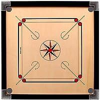 RTC Carrom Board 32X32 INCH Free 500 Gram Carrom Powder and Natraj Carrom Coin with STRICKER Premium Quality Colour…