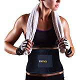 FIT PICK Sweat Slim Waist Trimmer Belt for Men and Women, Weight Loss Slimming Shaper Belt for Tummy (Free Size) Includes Free - FitPick V2.0 Workout Manual