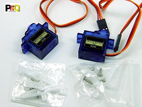 POPESQ® - 2 Stk. / pcs. x Mikro Servo Micro 9g SG90 RC #A1888 (Sg90 Servo)