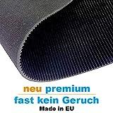Premium Feinriefenmatte (Neu mit wenig Gummi Geruch) - Stärke 3mm - Schwarz - Anti Rutsch (3m² - 1m x 3m)