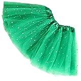 Reciy Sparkle für Mädchen Prinzessin Ballett Dance Layered Tüll Tutu Röcke, 2–8T, Kinder, grün, Einheitsgröße